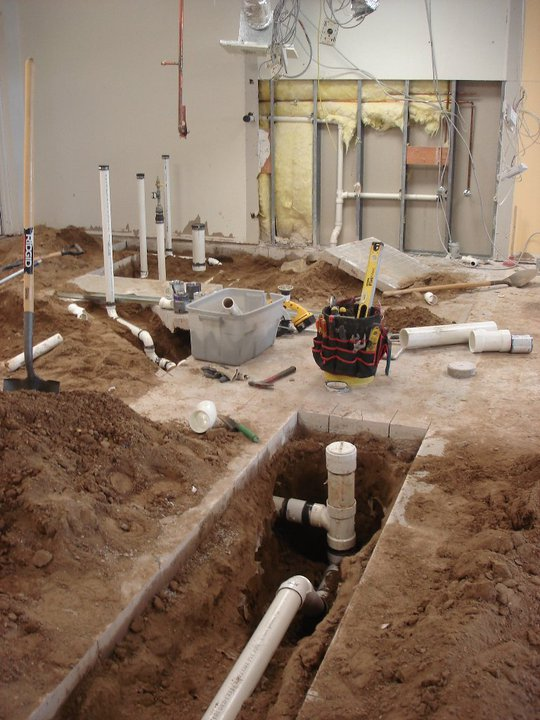 Relocate underground piping